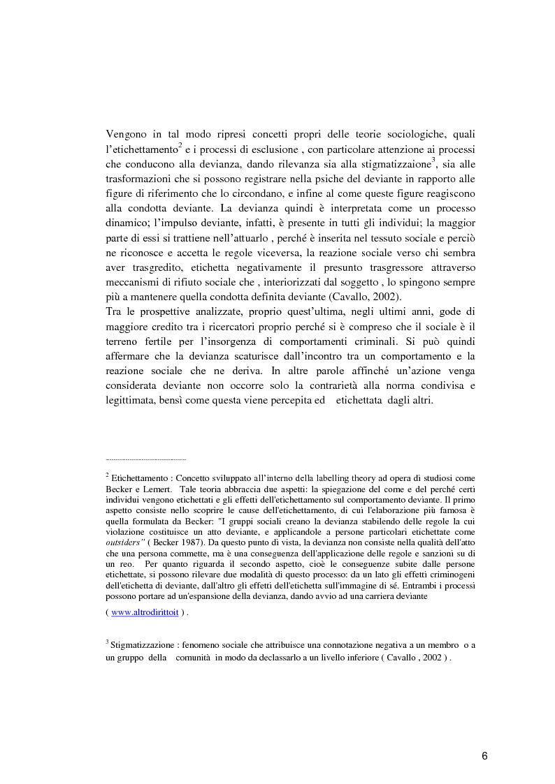 Anteprima della tesi: Il minore dell'area penale e l'inserimento lavorativo nel percorso rieducativo, Pagina 5