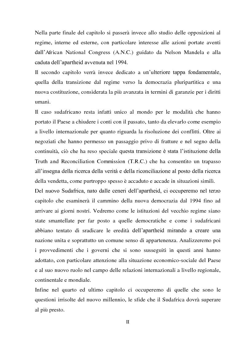 Anteprima della tesi: Processi di inclusione/esclusione nel Sudafrica contemporaneo. Dall'apartheid alla Rainbow Nation., Pagina 2