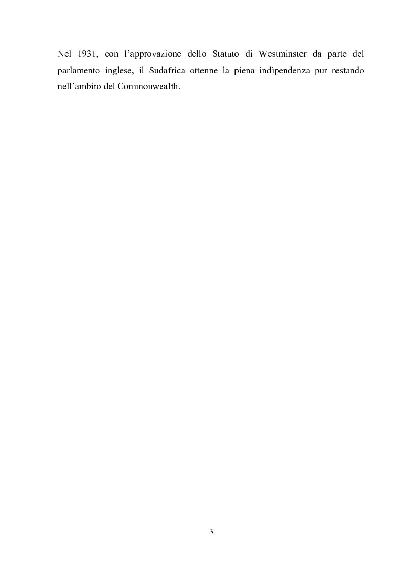 Anteprima della tesi: Processi di inclusione/esclusione nel Sudafrica contemporaneo. Dall'apartheid alla Rainbow Nation., Pagina 6