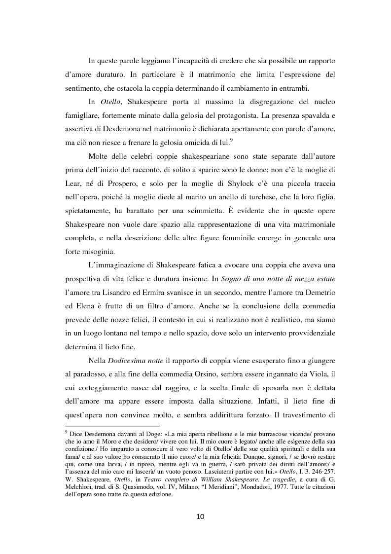 Anteprima della tesi: La metamorfosi della femminilità nei Sonetti, nell'Amleto e nel Macbeth di William Shakespeare, Pagina 10