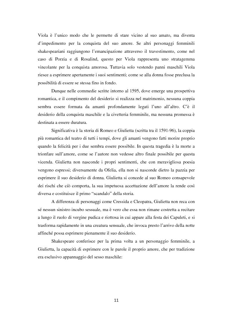 Anteprima della tesi: La metamorfosi della femminilità nei Sonetti, nell'Amleto e nel Macbeth di William Shakespeare, Pagina 11