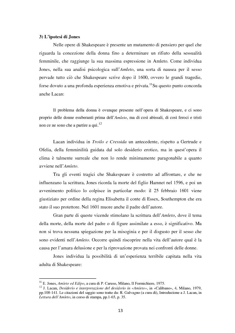 Anteprima della tesi: La metamorfosi della femminilità nei Sonetti, nell'Amleto e nel Macbeth di William Shakespeare, Pagina 13