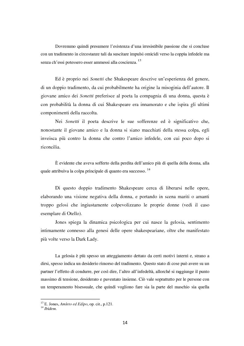 Anteprima della tesi: La metamorfosi della femminilità nei Sonetti, nell'Amleto e nel Macbeth di William Shakespeare, Pagina 14