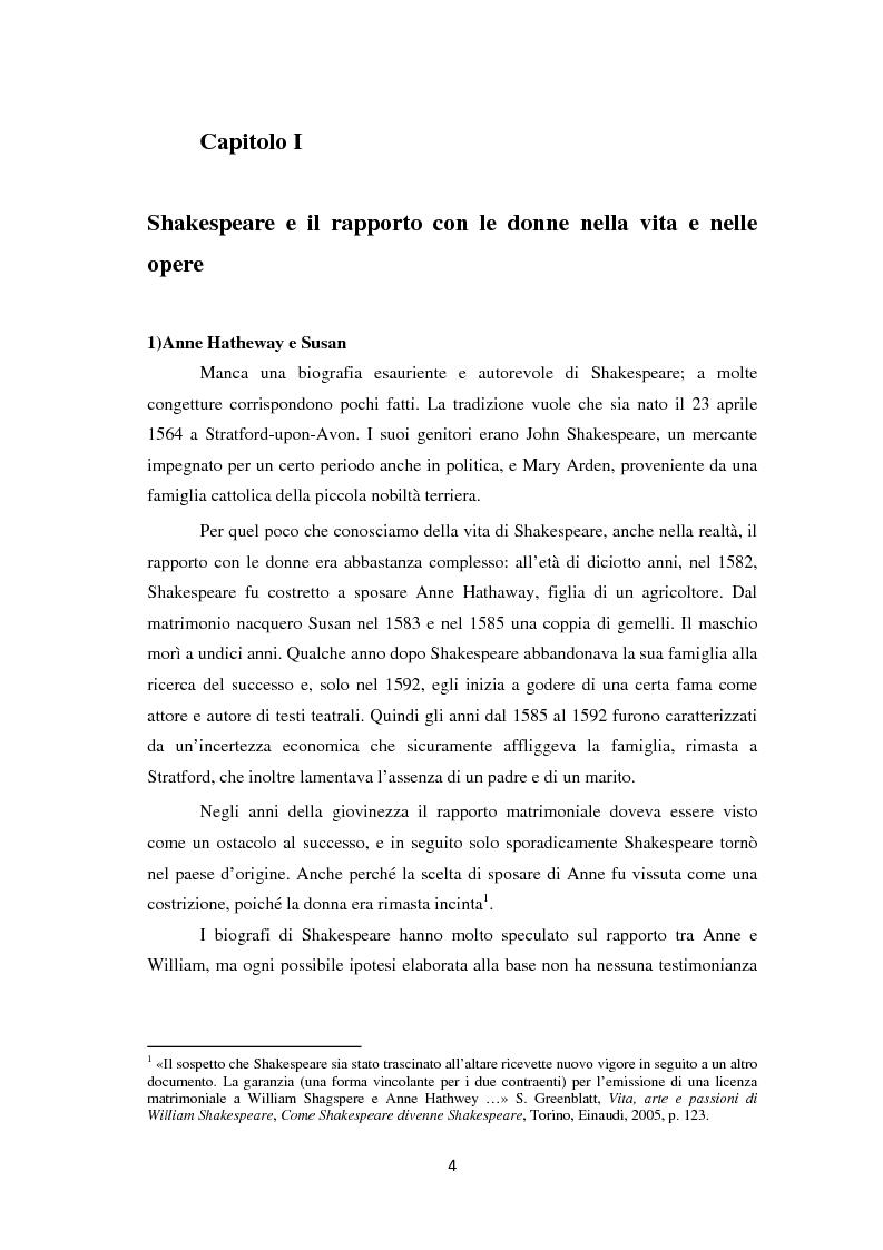 Anteprima della tesi: La metamorfosi della femminilità nei Sonetti, nell'Amleto e nel Macbeth di William Shakespeare, Pagina 4