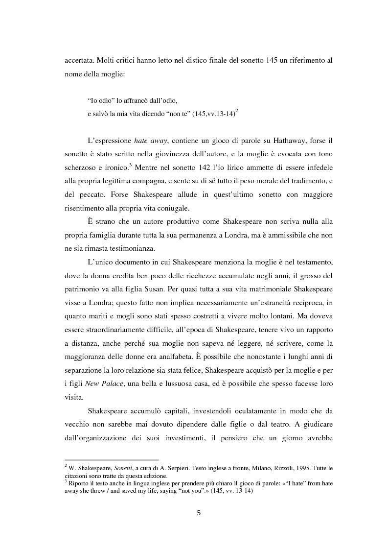 Anteprima della tesi: La metamorfosi della femminilità nei Sonetti, nell'Amleto e nel Macbeth di William Shakespeare, Pagina 5