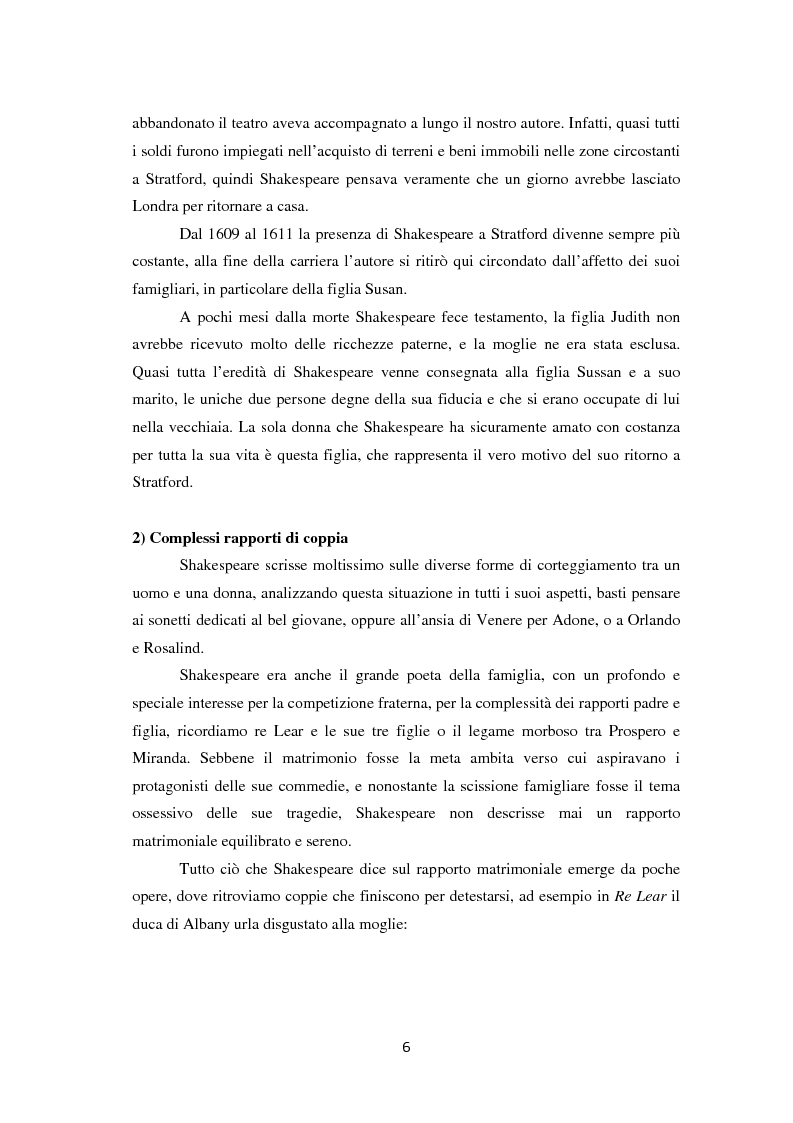 Anteprima della tesi: La metamorfosi della femminilità nei Sonetti, nell'Amleto e nel Macbeth di William Shakespeare, Pagina 6
