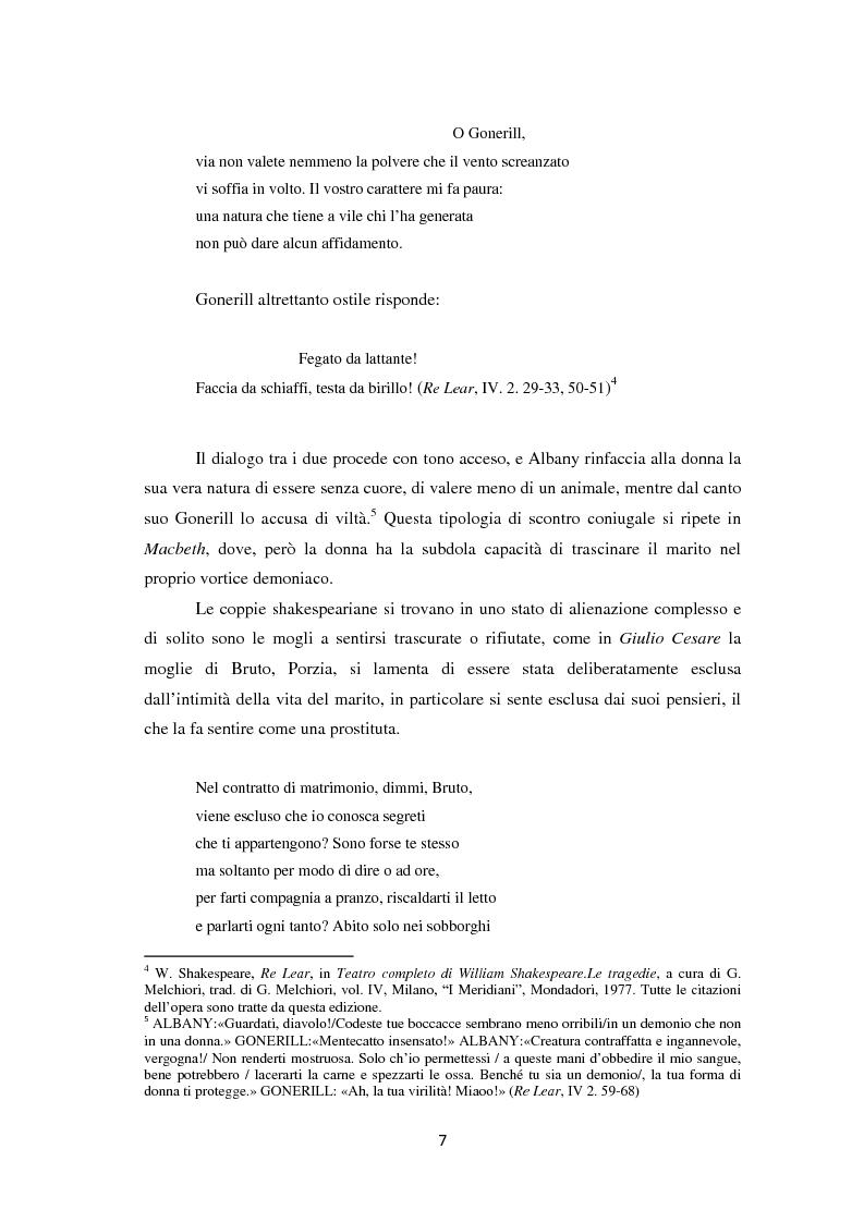 Anteprima della tesi: La metamorfosi della femminilità nei Sonetti, nell'Amleto e nel Macbeth di William Shakespeare, Pagina 7