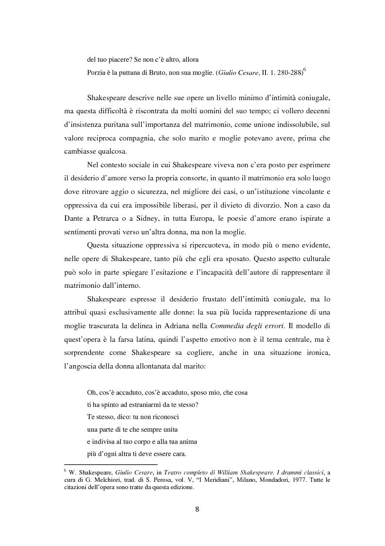 Anteprima della tesi: La metamorfosi della femminilità nei Sonetti, nell'Amleto e nel Macbeth di William Shakespeare, Pagina 8