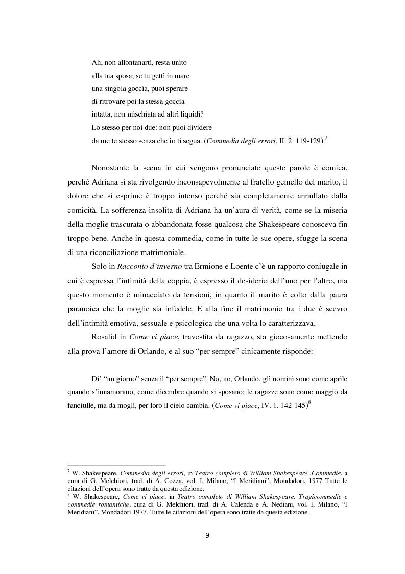 Anteprima della tesi: La metamorfosi della femminilità nei Sonetti, nell'Amleto e nel Macbeth di William Shakespeare, Pagina 9