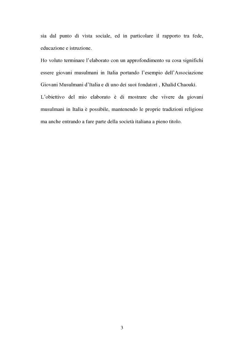 Anteprima della tesi: Giovani musulmani d'Italia, Pagina 2