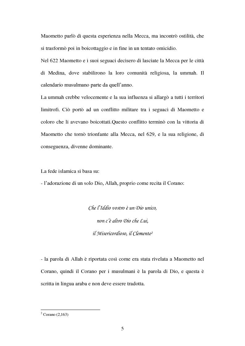 Anteprima della tesi: Giovani musulmani d'Italia, Pagina 4