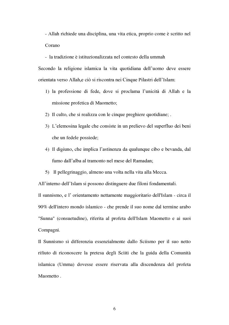 Anteprima della tesi: Giovani musulmani d'Italia, Pagina 5