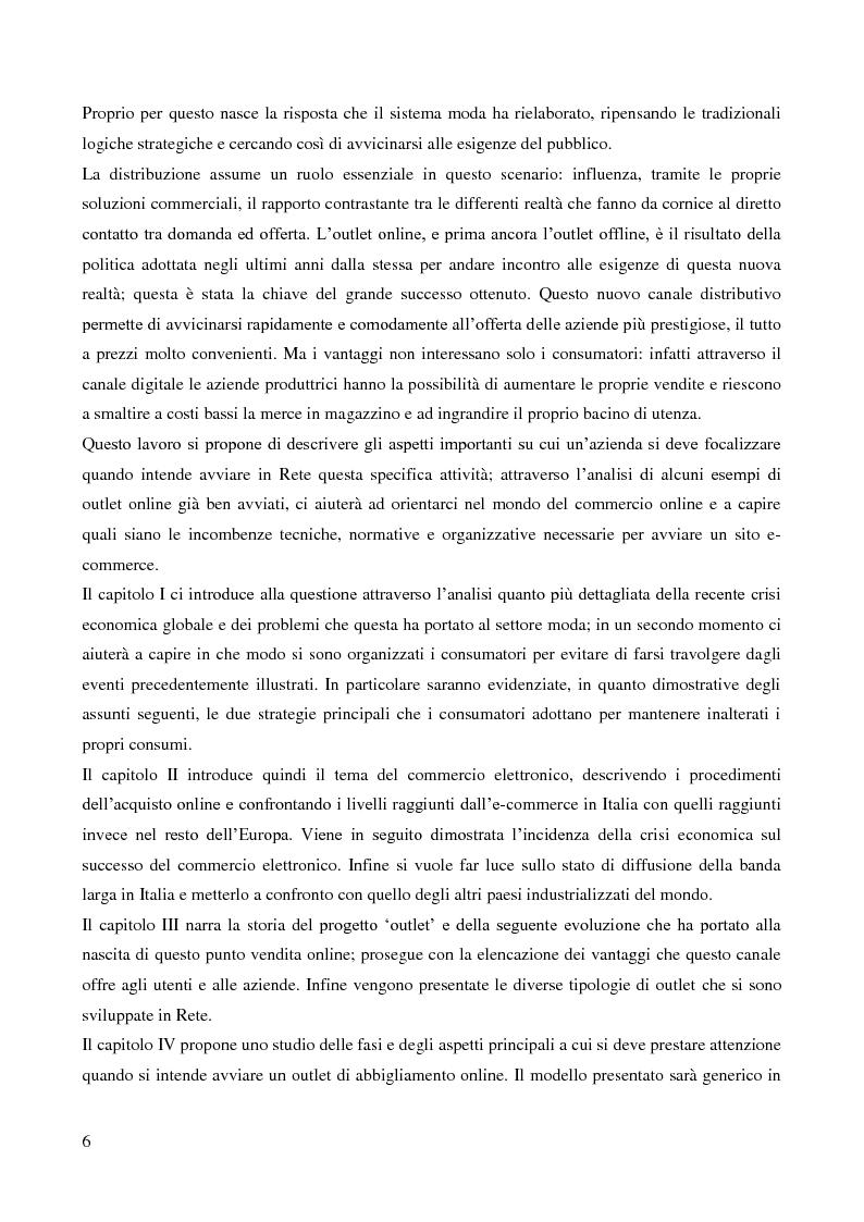 Anteprima della tesi: Lo sviluppo di un nuovo canale commerciale: gli outlet elettronici, Pagina 2
