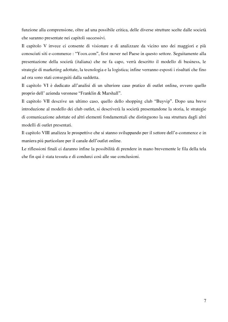 Anteprima della tesi: Lo sviluppo di un nuovo canale commerciale: gli outlet elettronici, Pagina 3