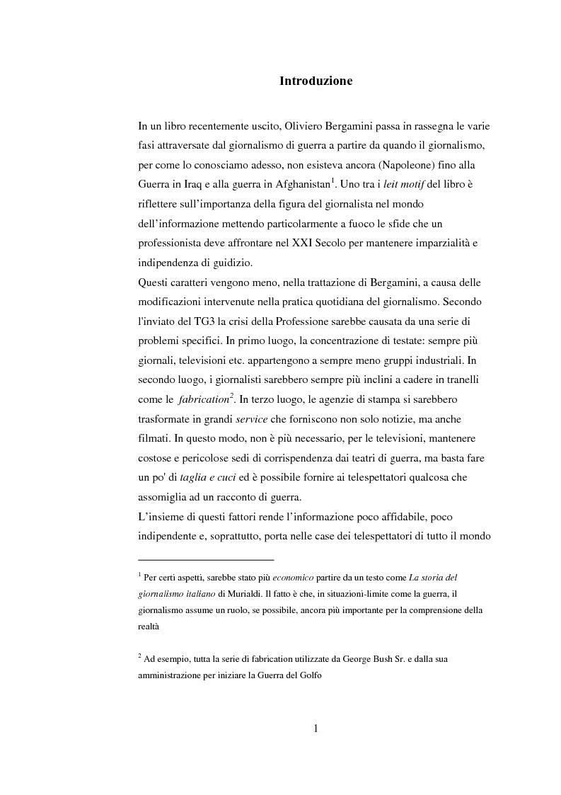 Anteprima della tesi: Tra blog e giornalismo, uno sguardo critico sul mondo dell'informazione in Rete, Pagina 1