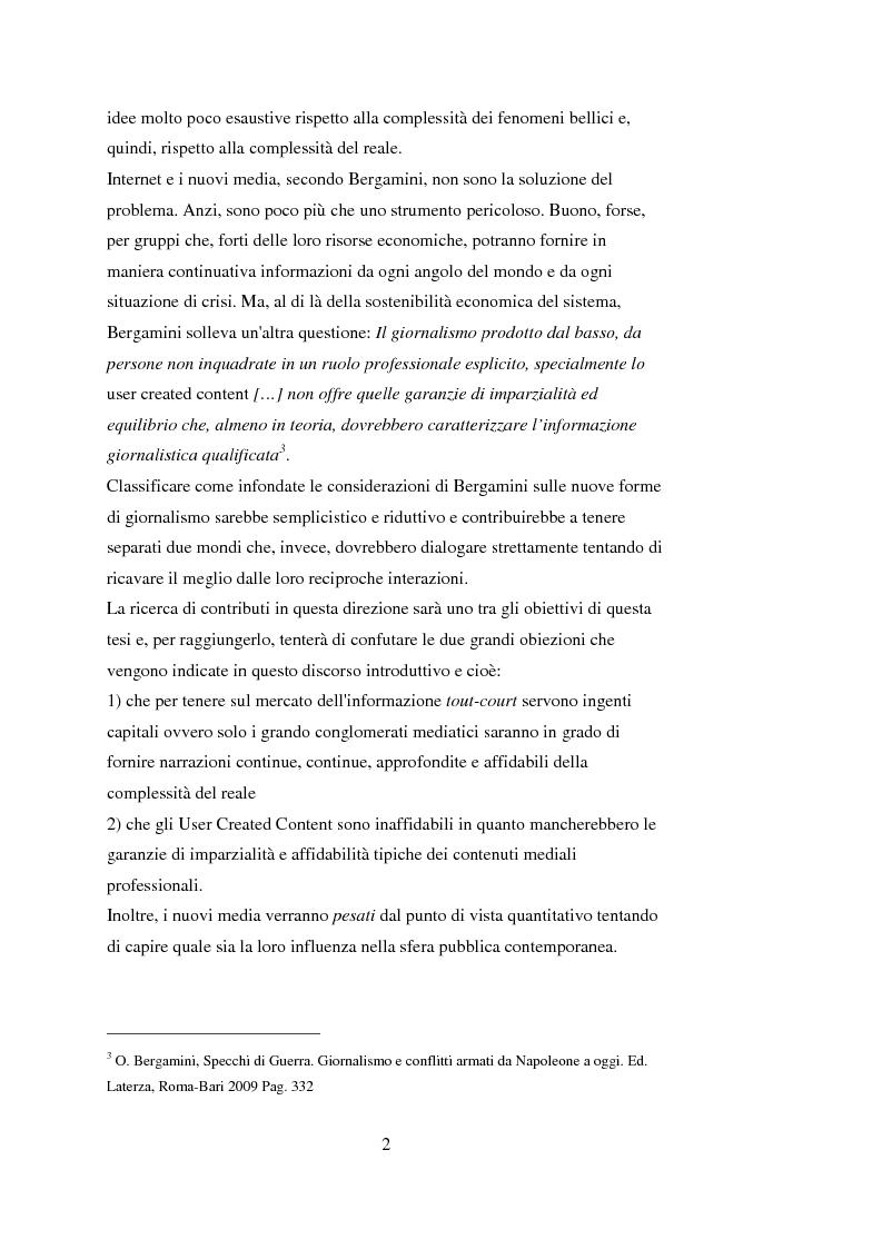 Anteprima della tesi: Tra blog e giornalismo, uno sguardo critico sul mondo dell'informazione in Rete, Pagina 2