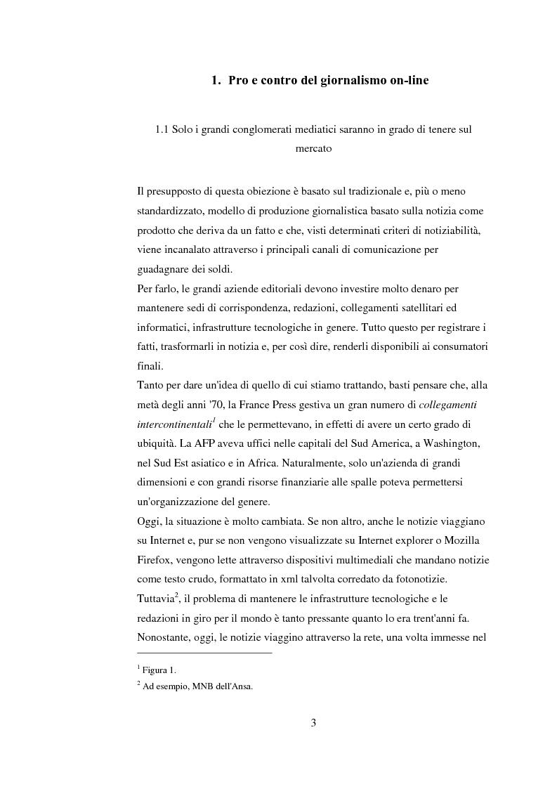 Anteprima della tesi: Tra blog e giornalismo, uno sguardo critico sul mondo dell'informazione in Rete, Pagina 3