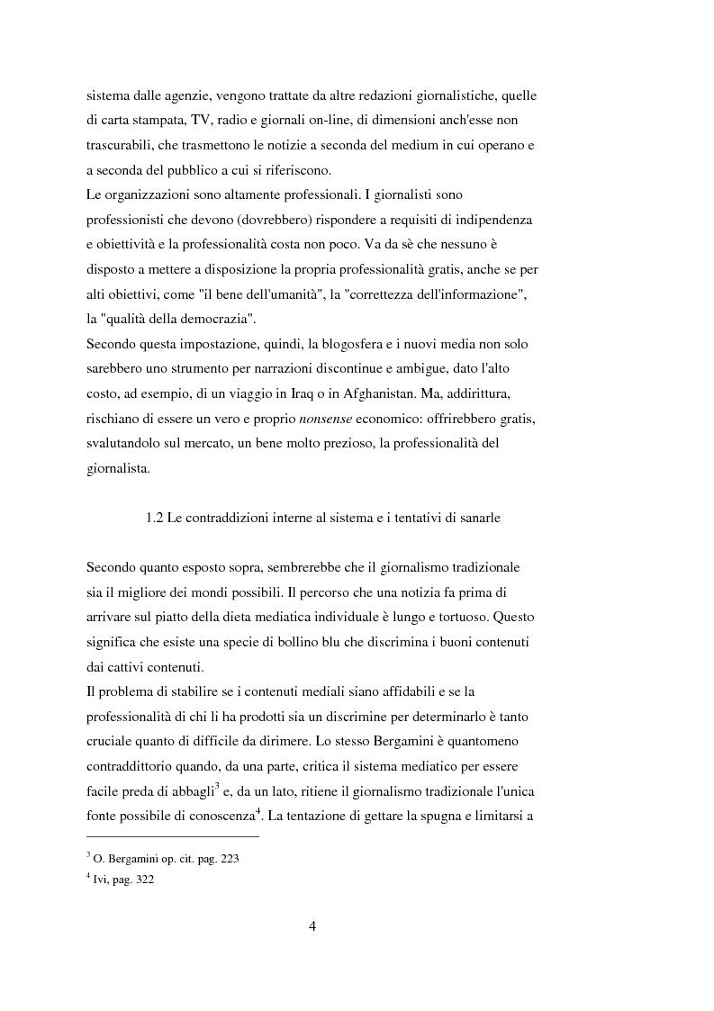 Anteprima della tesi: Tra blog e giornalismo, uno sguardo critico sul mondo dell'informazione in Rete, Pagina 4