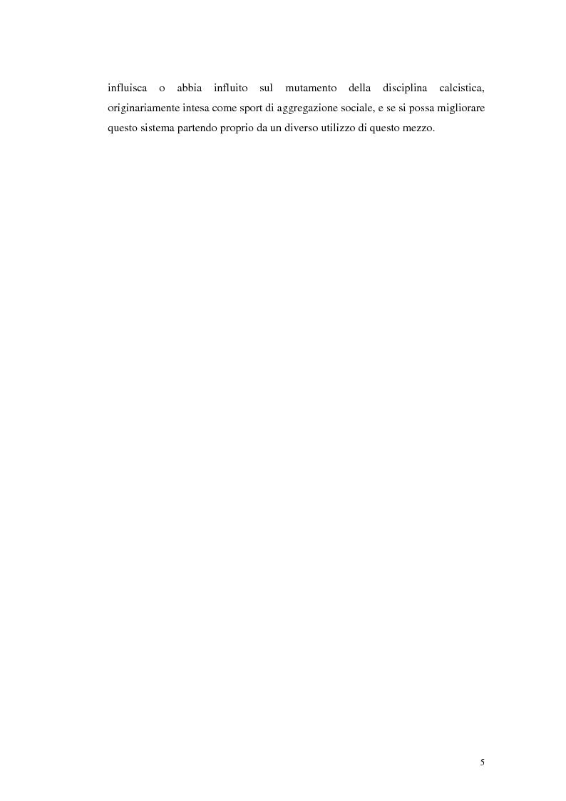 Anteprima della tesi: Calcio e Tv, tra affari e potere, Pagina 3