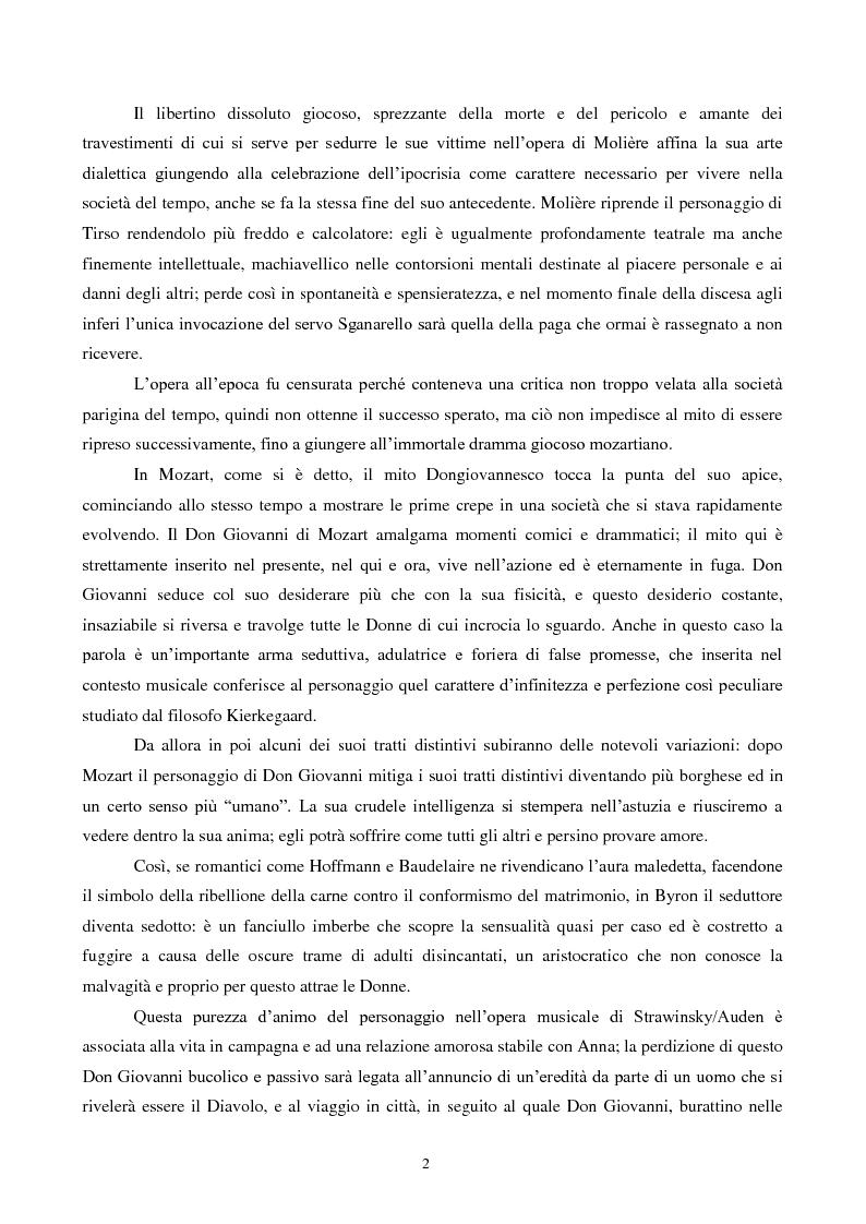 Anteprima della tesi: Il mito di Don Giovanni tra arte e psicanalisi, Pagina 2