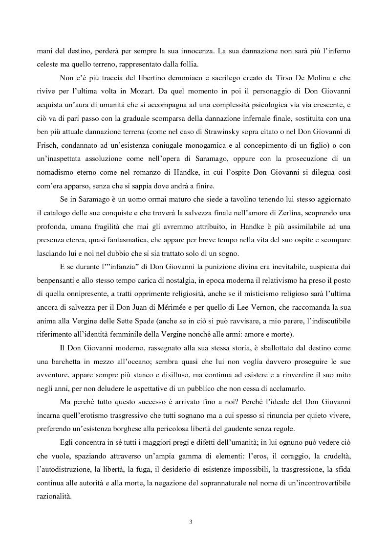 Anteprima della tesi: Il mito di Don Giovanni tra arte e psicanalisi, Pagina 3