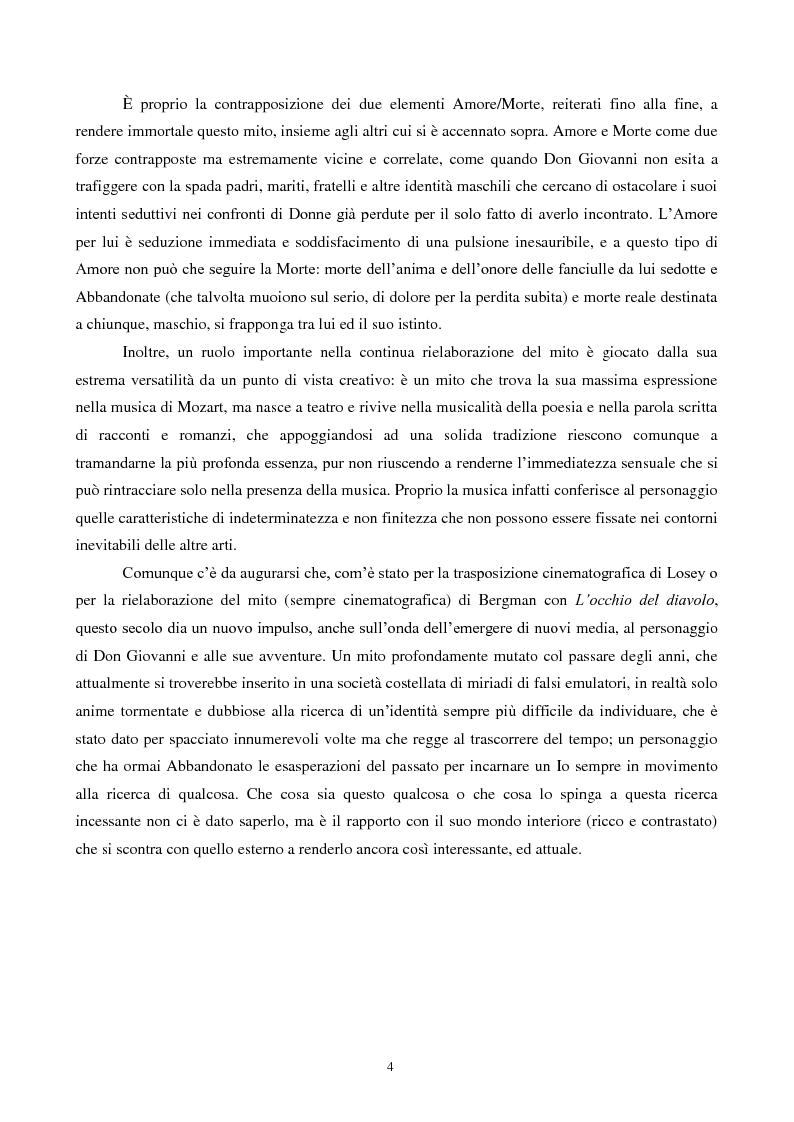 Anteprima della tesi: Il mito di Don Giovanni tra arte e psicanalisi, Pagina 4