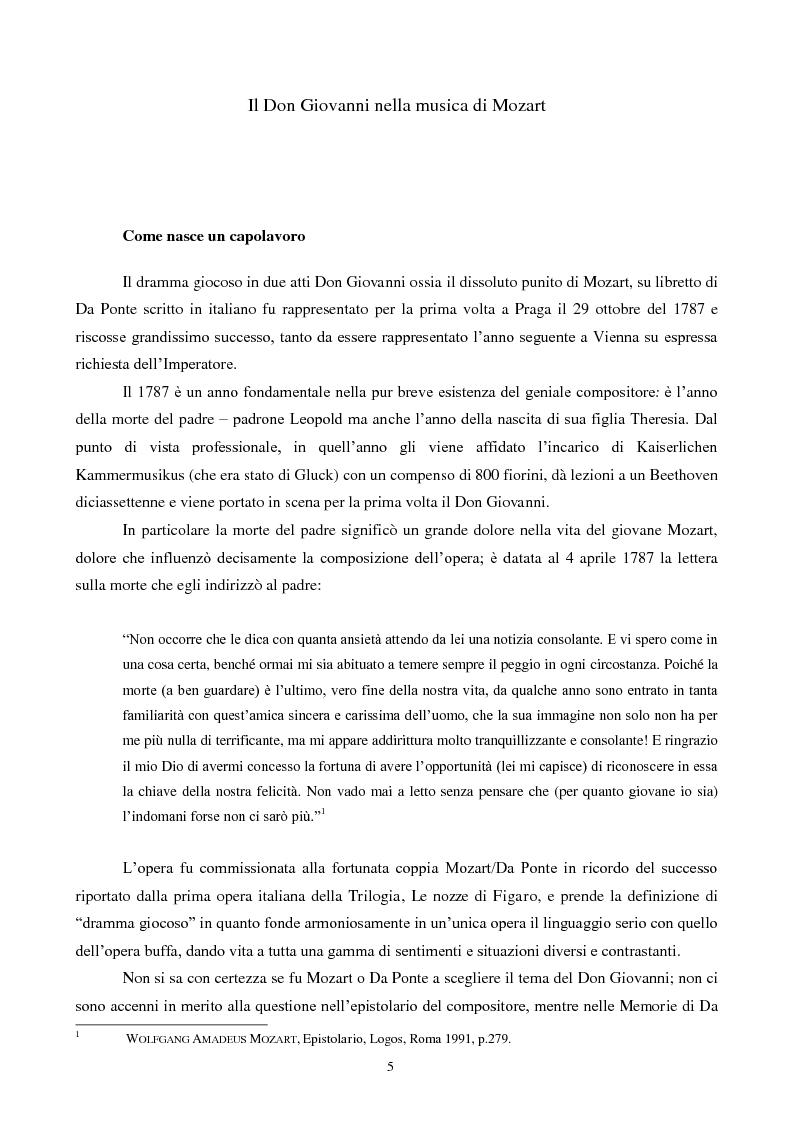 Anteprima della tesi: Il mito di Don Giovanni tra arte e psicanalisi, Pagina 5