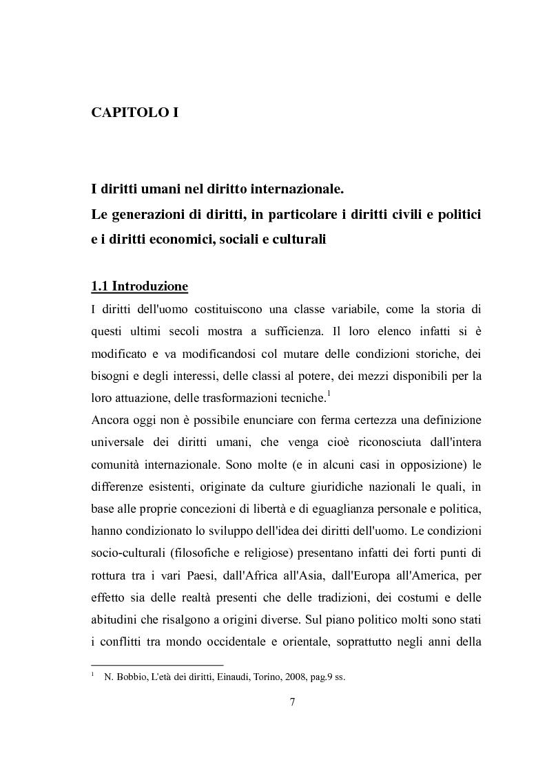 Anteprima della tesi: Universalità dei diritti e filosofia dell'economia politica, Pagina 1