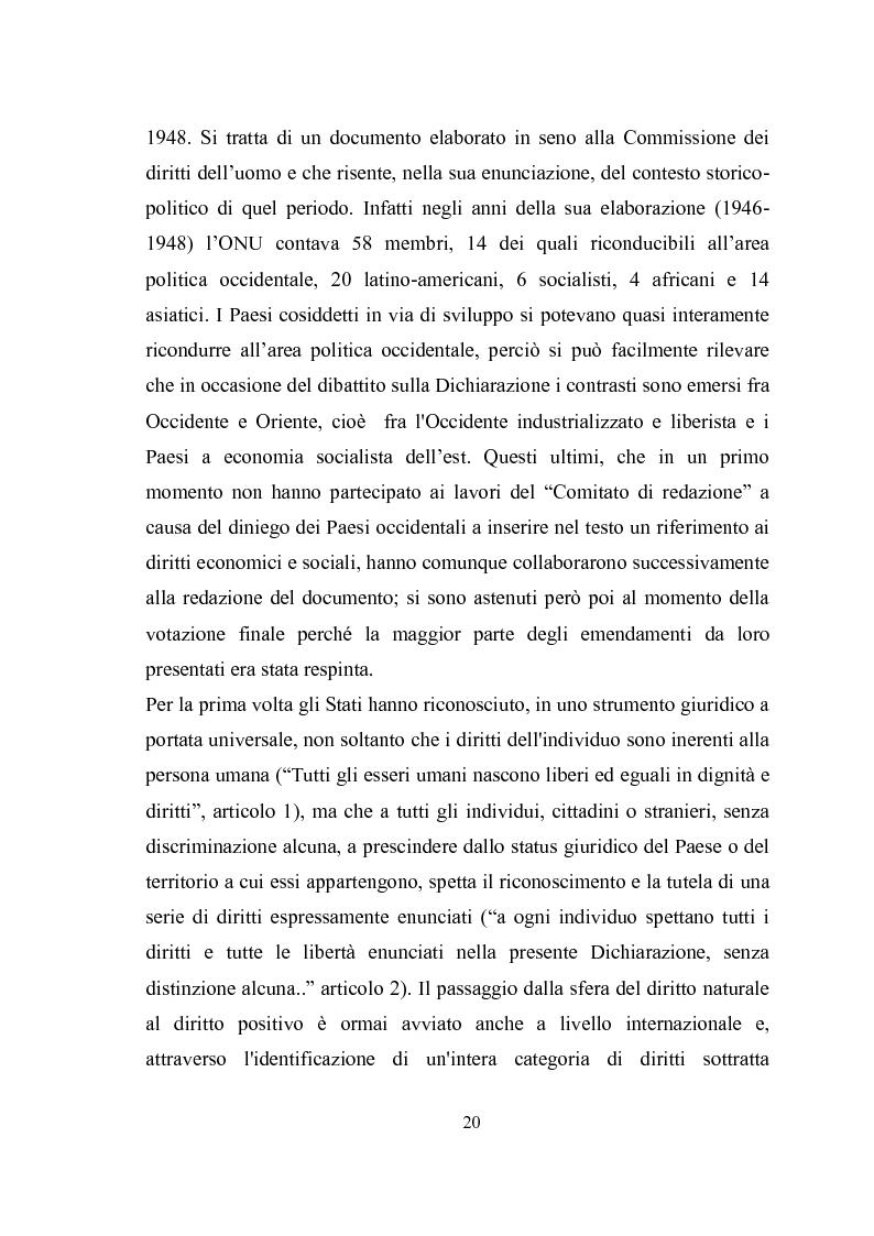 Anteprima della tesi: Universalità dei diritti e filosofia dell'economia politica, Pagina 14