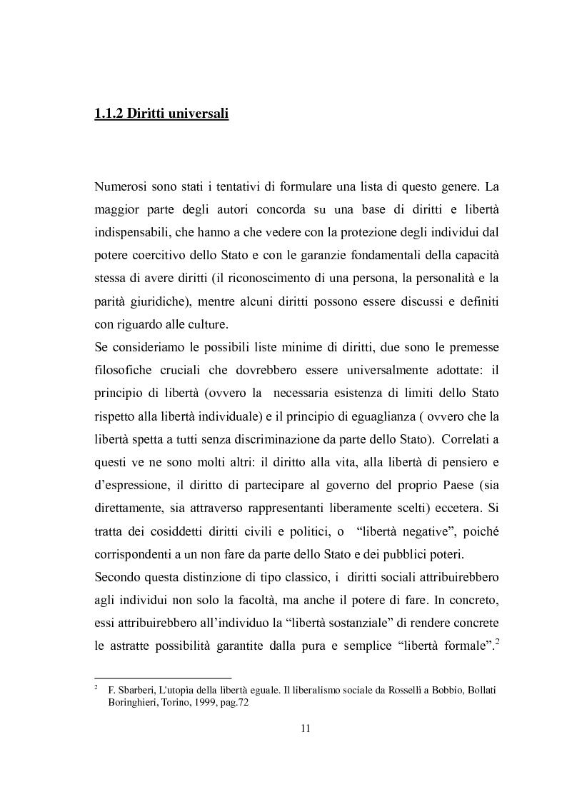 Anteprima della tesi: Universalità dei diritti e filosofia dell'economia politica, Pagina 5