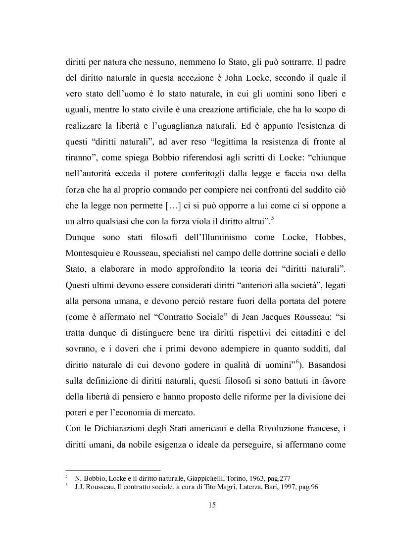 Anteprima della tesi: Universalità dei diritti e filosofia dell'economia politica, Pagina 9