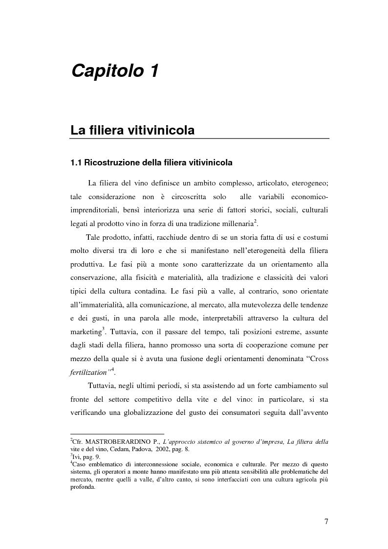 Anteprima della tesi: Strategie e politiche distributive e di branding tra terroir e imprese nella filiera vitivinicola: il caso Castello Banfi in Toscana, Pagina 1