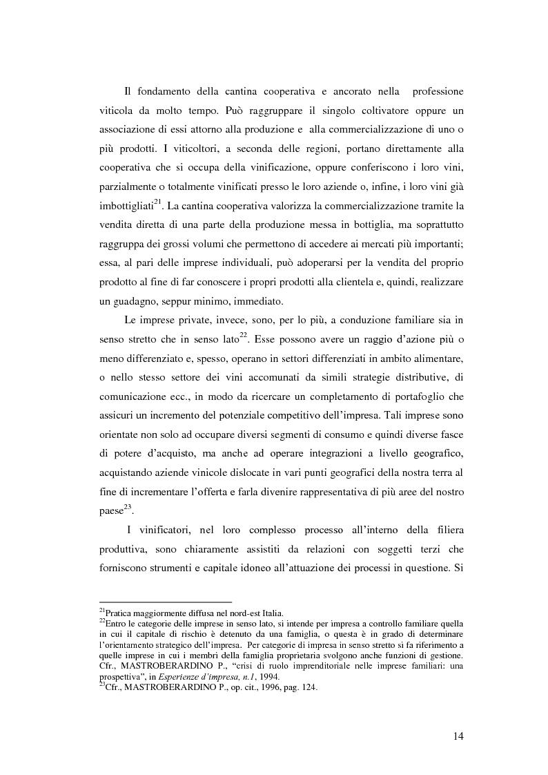 Anteprima della tesi: Strategie e politiche distributive e di branding tra terroir e imprese nella filiera vitivinicola: il caso Castello Banfi in Toscana, Pagina 8