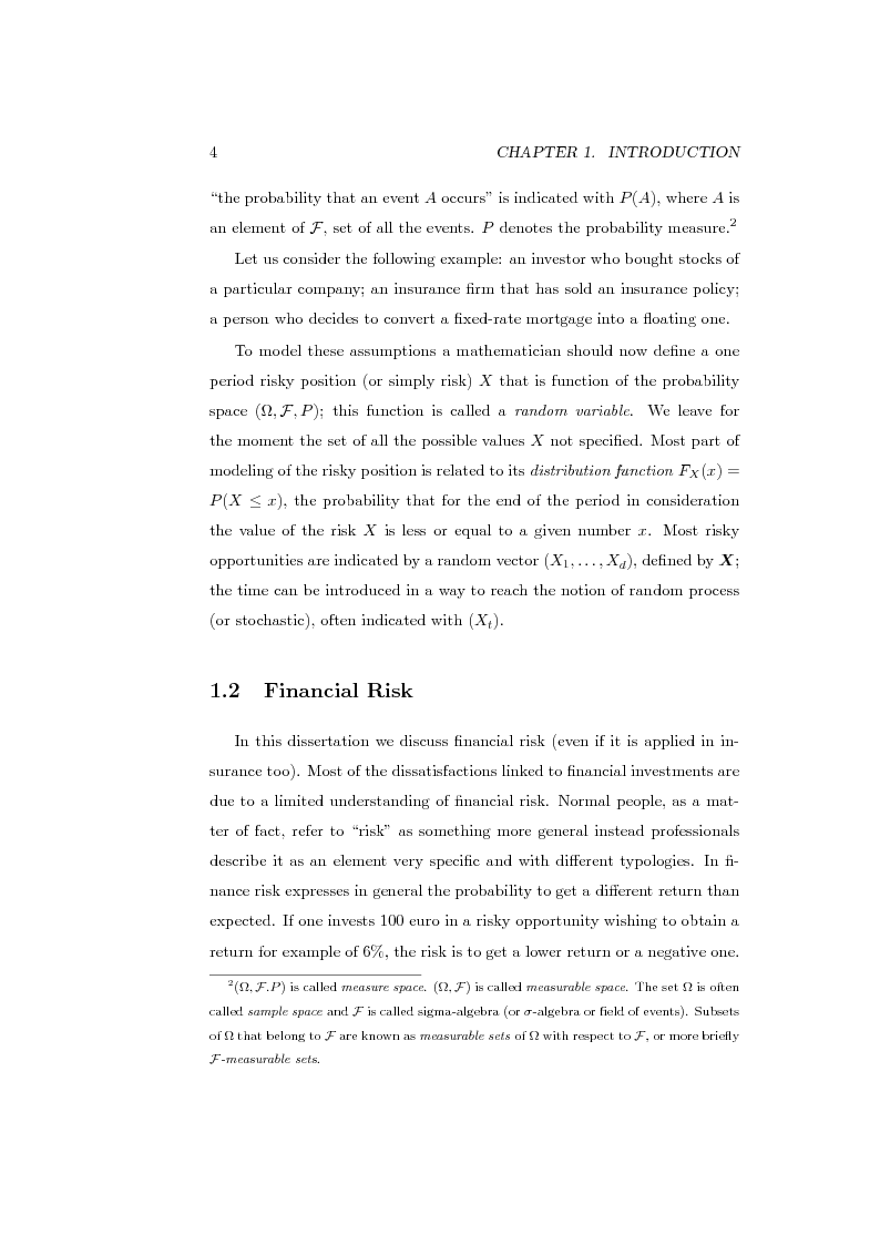 Anteprima della tesi: Measures of Contribution for Portfolio Risk, Pagina 4