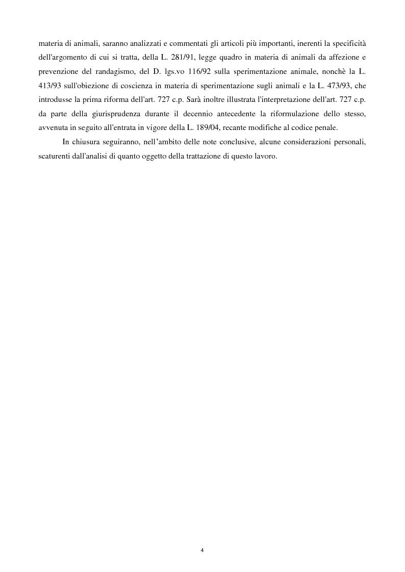 Anteprima della tesi: Etica e tutela dei diritti degli animali domestici, Pagina 2