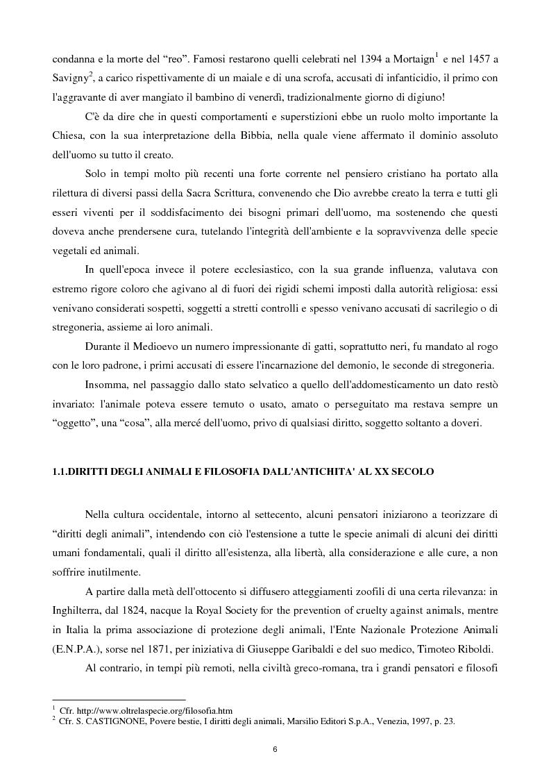 Anteprima della tesi: Etica e tutela dei diritti degli animali domestici, Pagina 4
