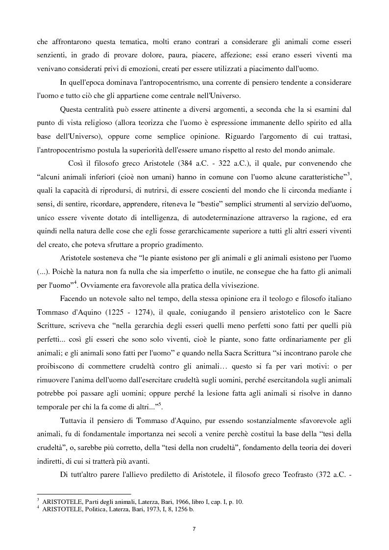 Anteprima della tesi: Etica e tutela dei diritti degli animali domestici, Pagina 5