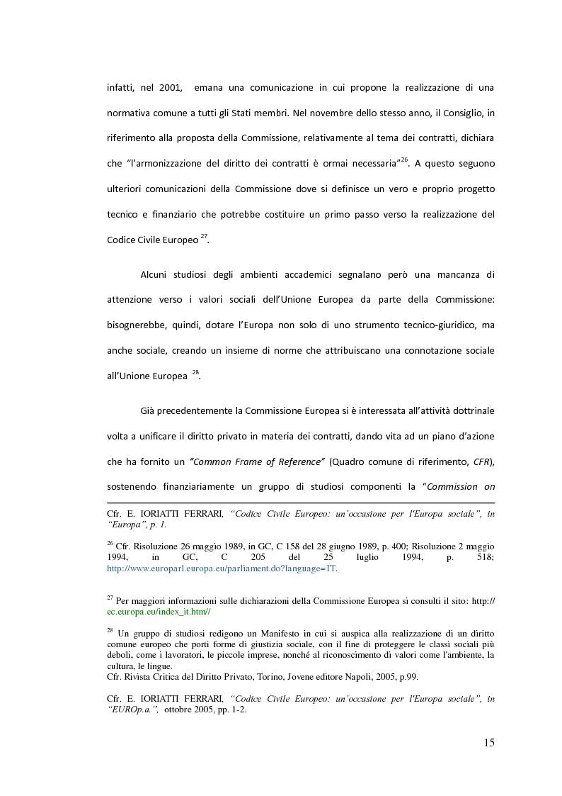 Anteprima della tesi: Traduzione commentata di alcuni passi tratti dagli studi compiuti su un Codice Civile Europeo, Pagina 10