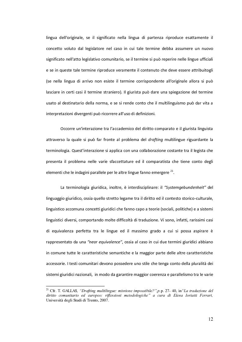 Anteprima della tesi: Traduzione commentata di alcuni passi tratti dagli studi compiuti su un Codice Civile Europeo, Pagina 7