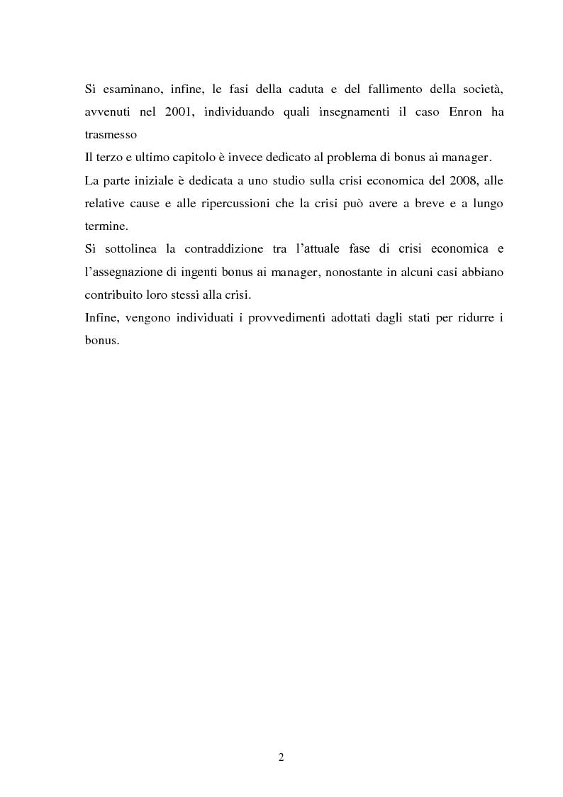 Anteprima della tesi: La separazione tra proprietà e controllo. Il caso Enron., Pagina 3