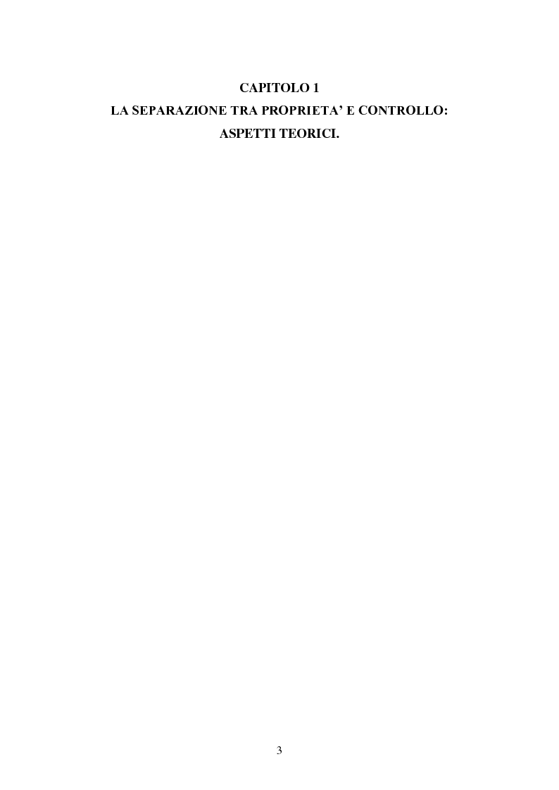 Anteprima della tesi: La separazione tra proprietà e controllo. Il caso Enron., Pagina 4