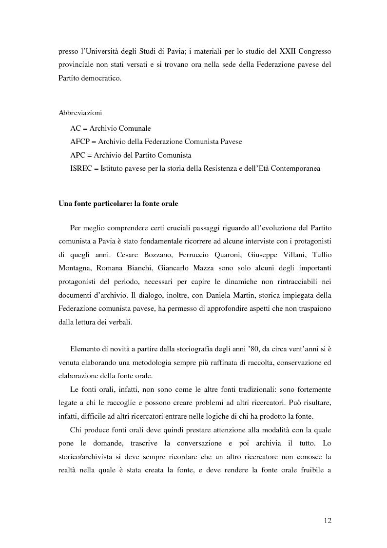 Anteprima della tesi: Dal PCI al PDS. Il caso pavese, Pagina 10