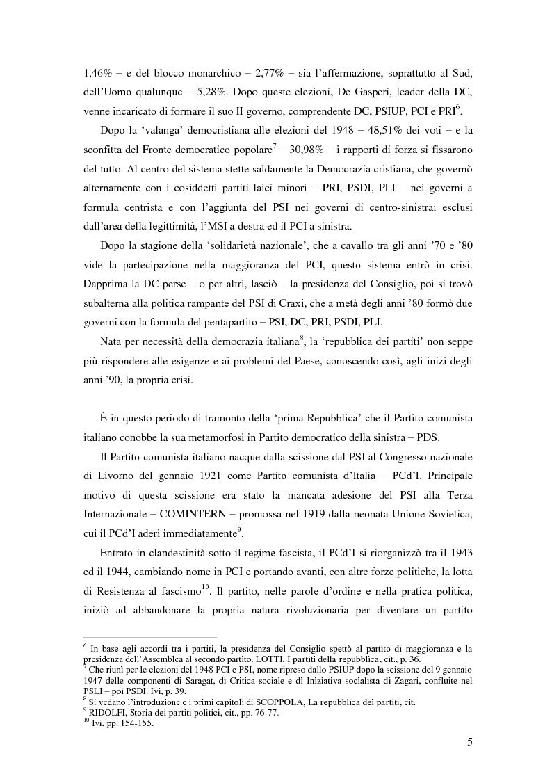 Anteprima della tesi: Dal PCI al PDS. Il caso pavese, Pagina 3