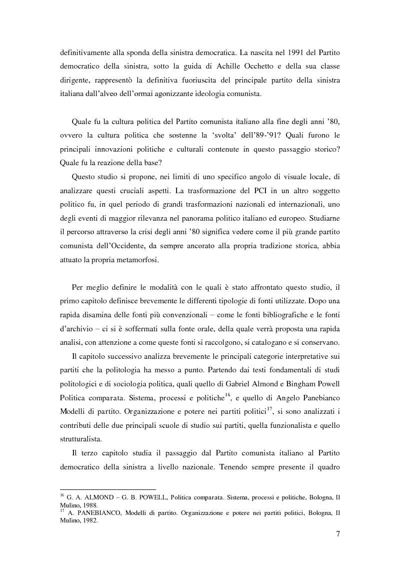 Anteprima della tesi: Dal PCI al PDS. Il caso pavese, Pagina 5