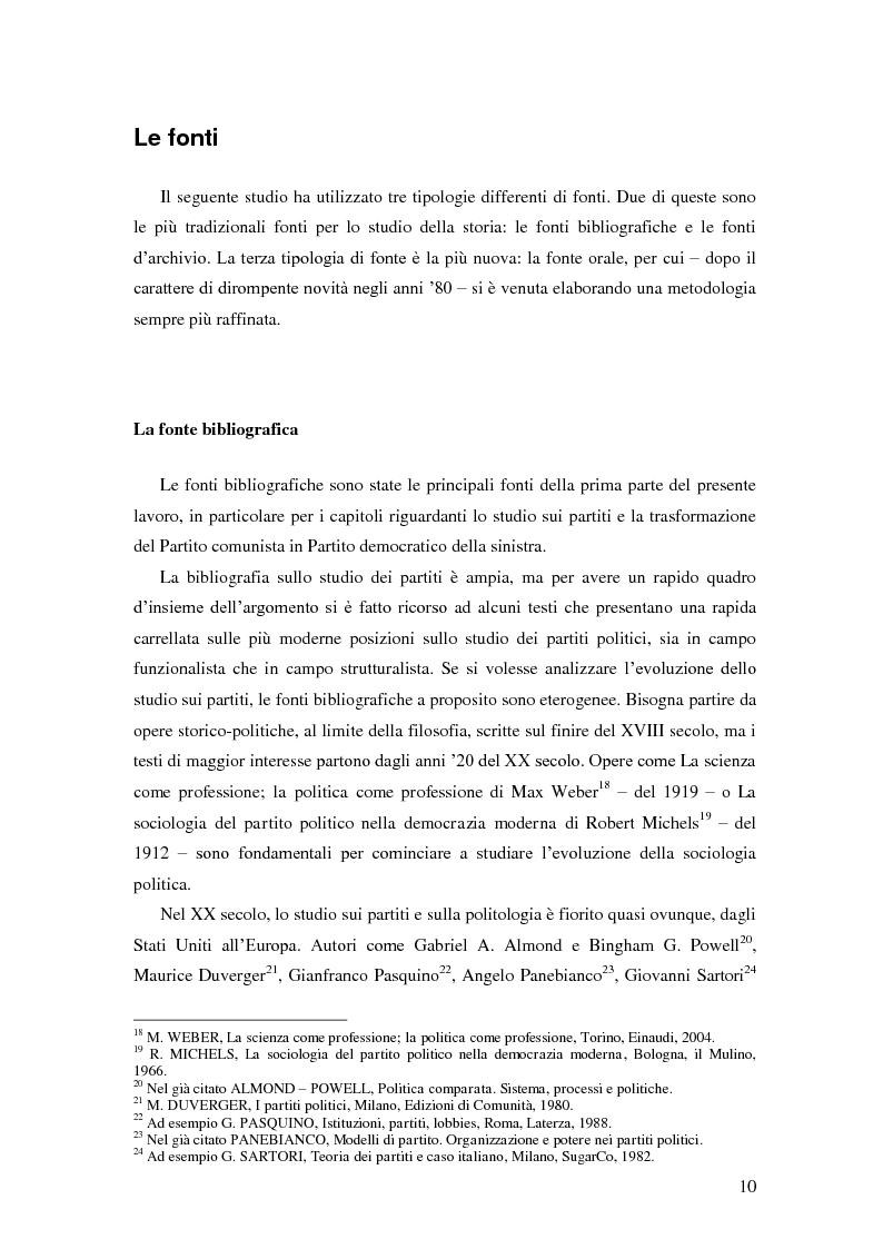 Anteprima della tesi: Dal PCI al PDS. Il caso pavese, Pagina 8