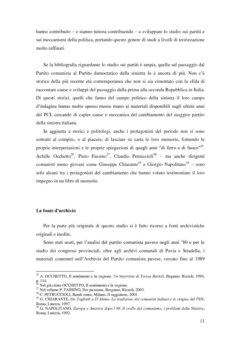 Anteprima della tesi: Dal PCI al PDS. Il caso pavese, Pagina 9