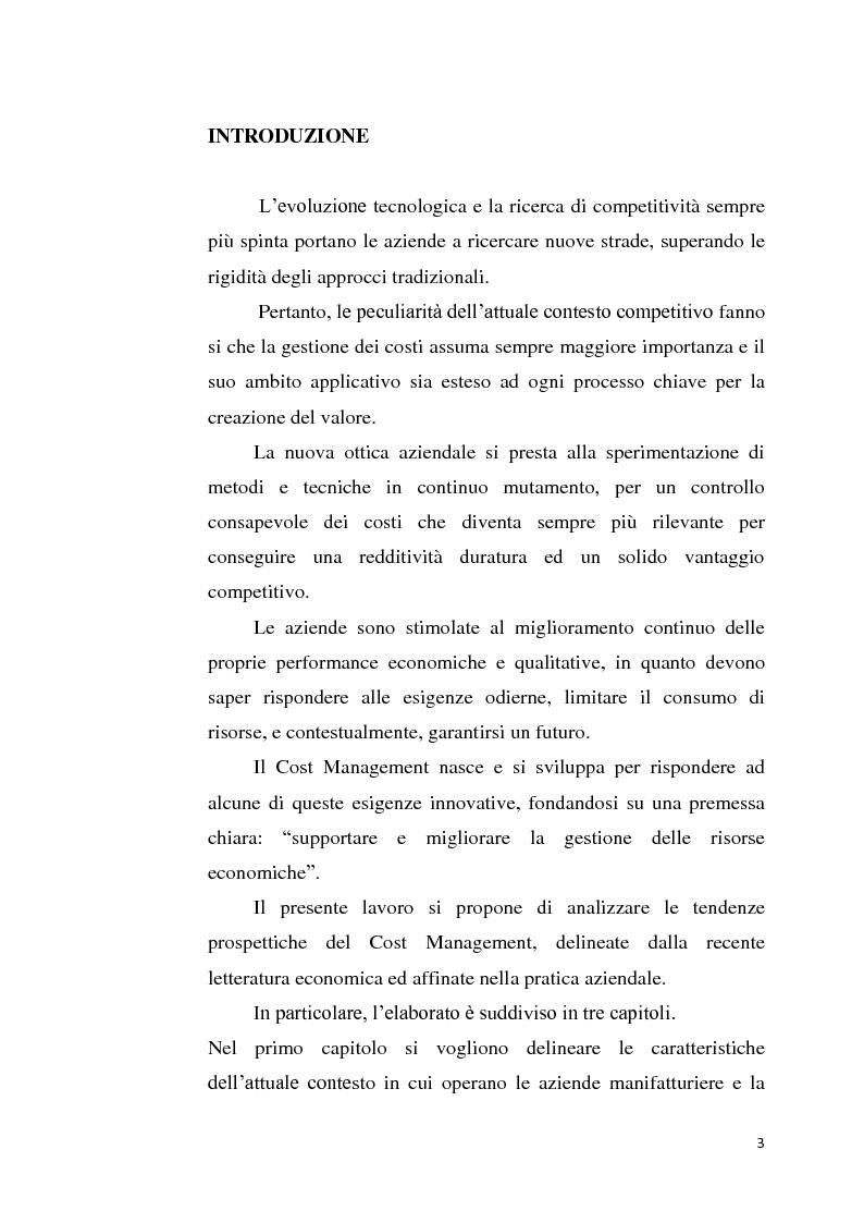 Anteprima della tesi: Il Design to Cost come strumento di supporto alla progettazione, Pagina 1