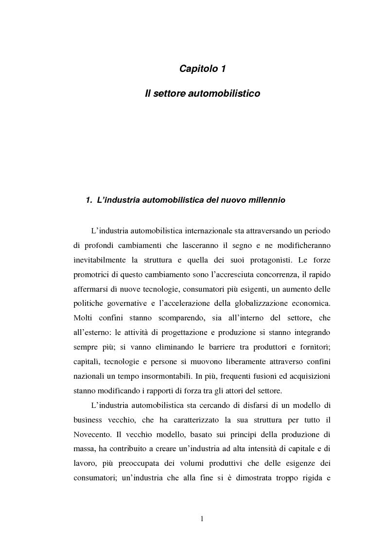 Anteprima della tesi: Le strategie di internazionalizzazione nel settore della componentistica auto: il caso Brembo, Pagina 1