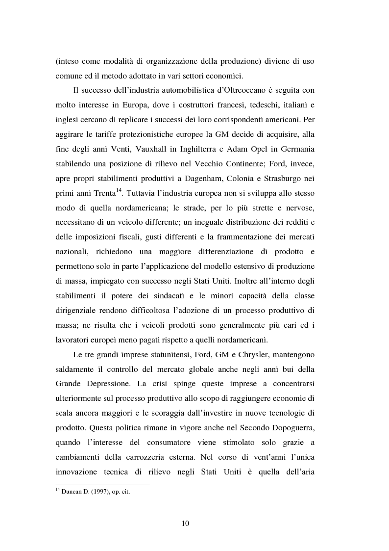 Anteprima della tesi: Le strategie di internazionalizzazione nel settore della componentistica auto: il caso Brembo, Pagina 10