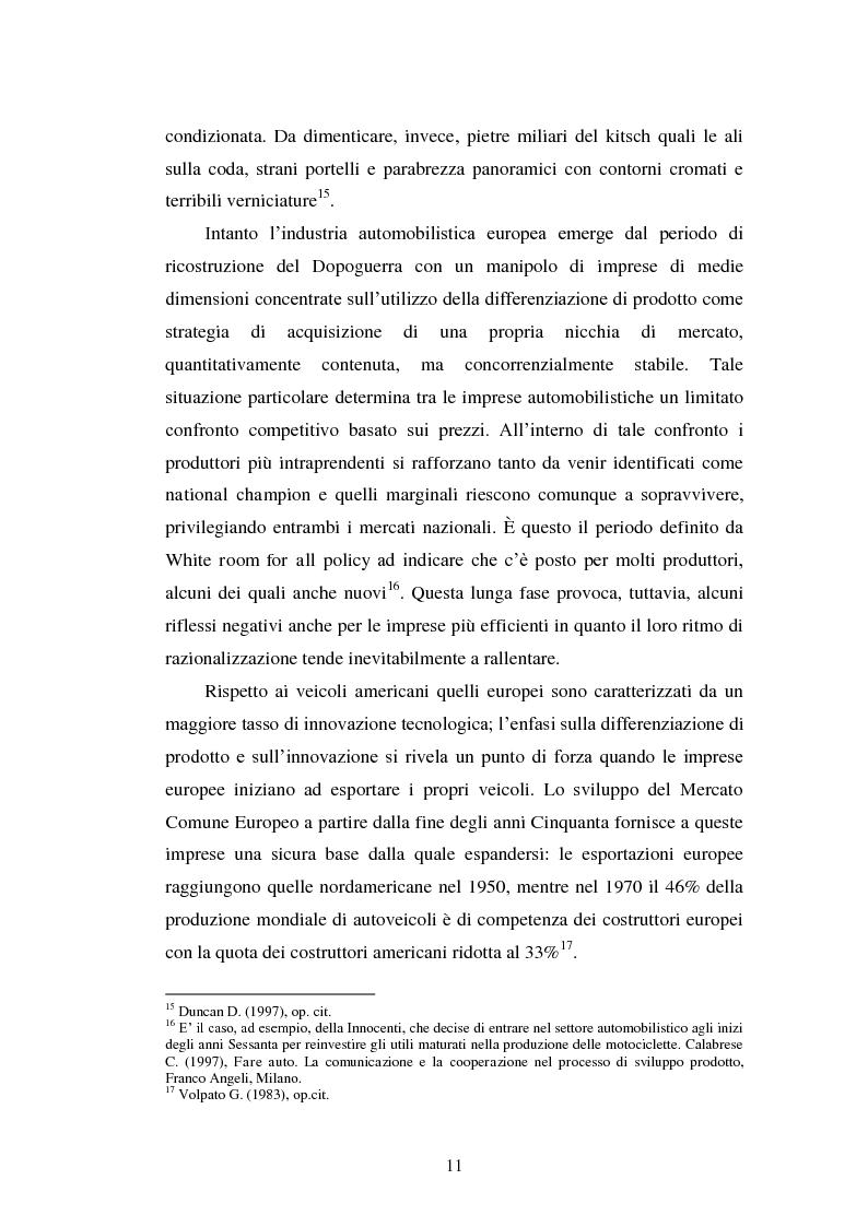 Anteprima della tesi: Le strategie di internazionalizzazione nel settore della componentistica auto: il caso Brembo, Pagina 11